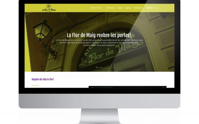 Disseny de la nova pàgina web de l'Ateneu popular Flor de Maig, un espai veïnal de transformació social. És un projecte autogestionat, que té l'objectiu de fomentar la participació de totes les persones.