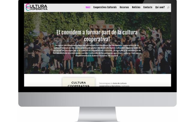 Disseny i continguts del web del col·lectiu de cooperatives culturals de Barcelona, amb informació i recursos sobre economia solidària a l'àmbit cultural.